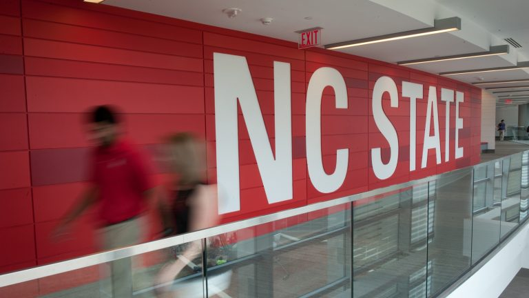 NC State wall in Talley Student Center