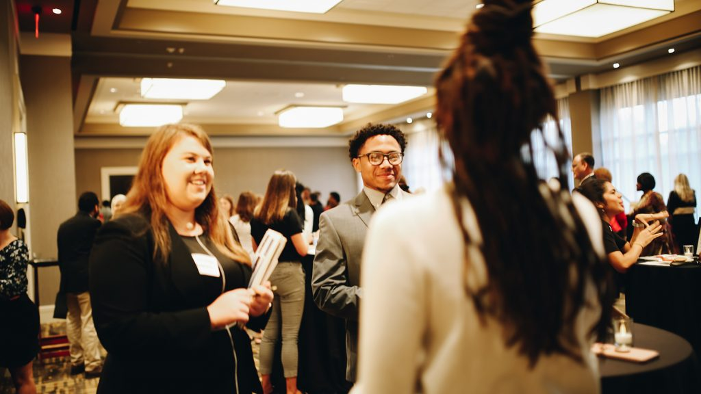 Behind the scenes of the Inclusive Recruiter reception