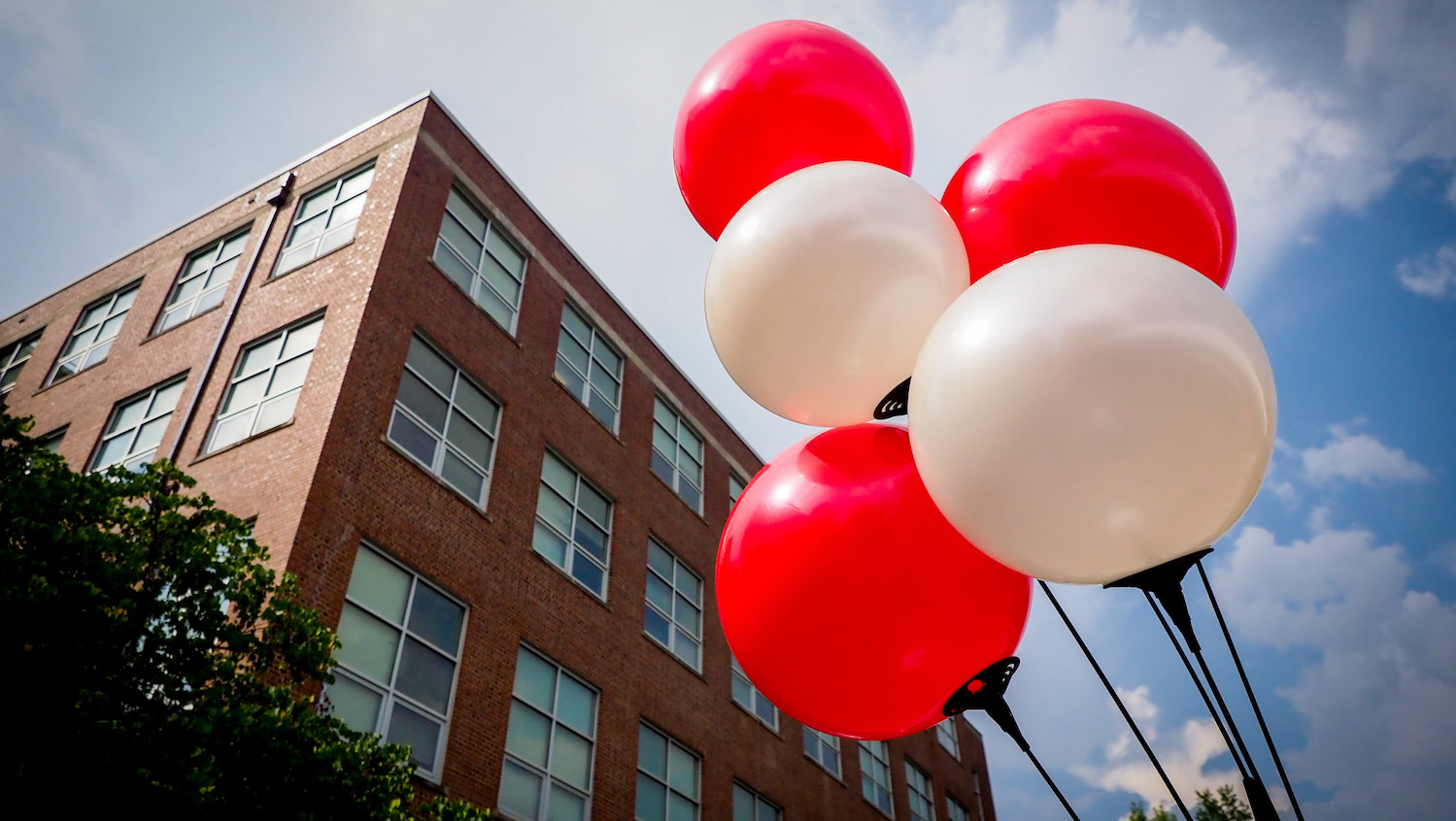Nelson Hall and Balloons