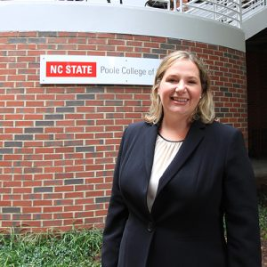Photo of Elisabeth Zimowski at the NC State Poole College of Management