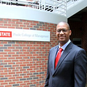 Photo of Roderick Lewis at the NC State Poole College of Management