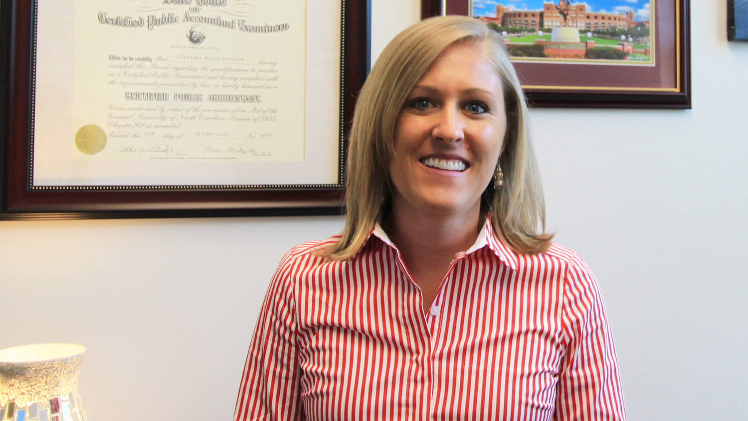 Photo of Christina Lewellen, assistant professor of accounting