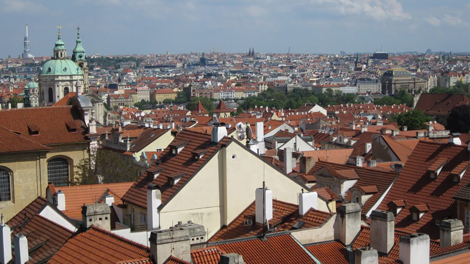 Skyline of the city of Prague, Czech Republic