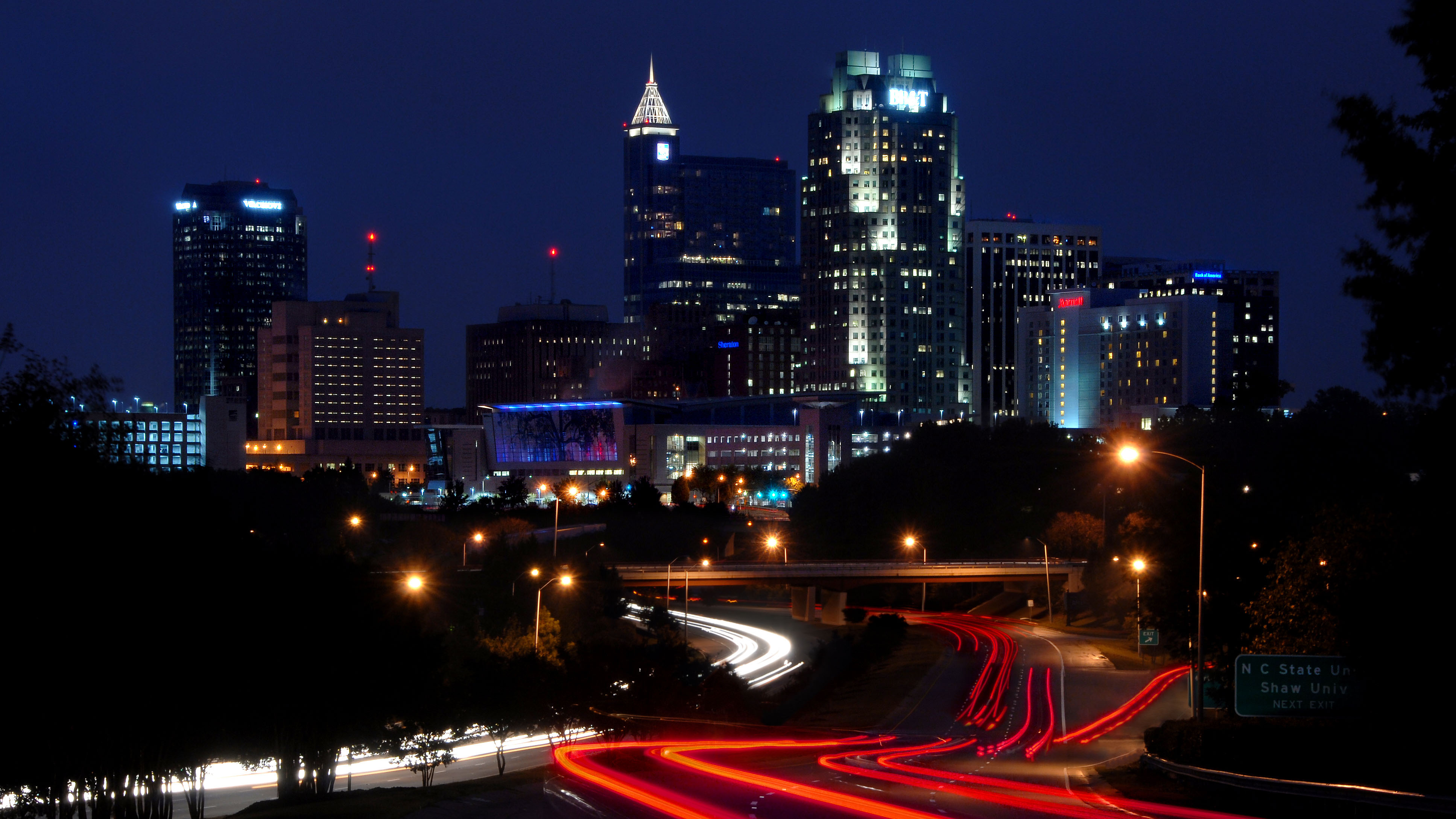 City of Raleigh skyline in the early evening. PHOTO BY ROGER WINSTEAD