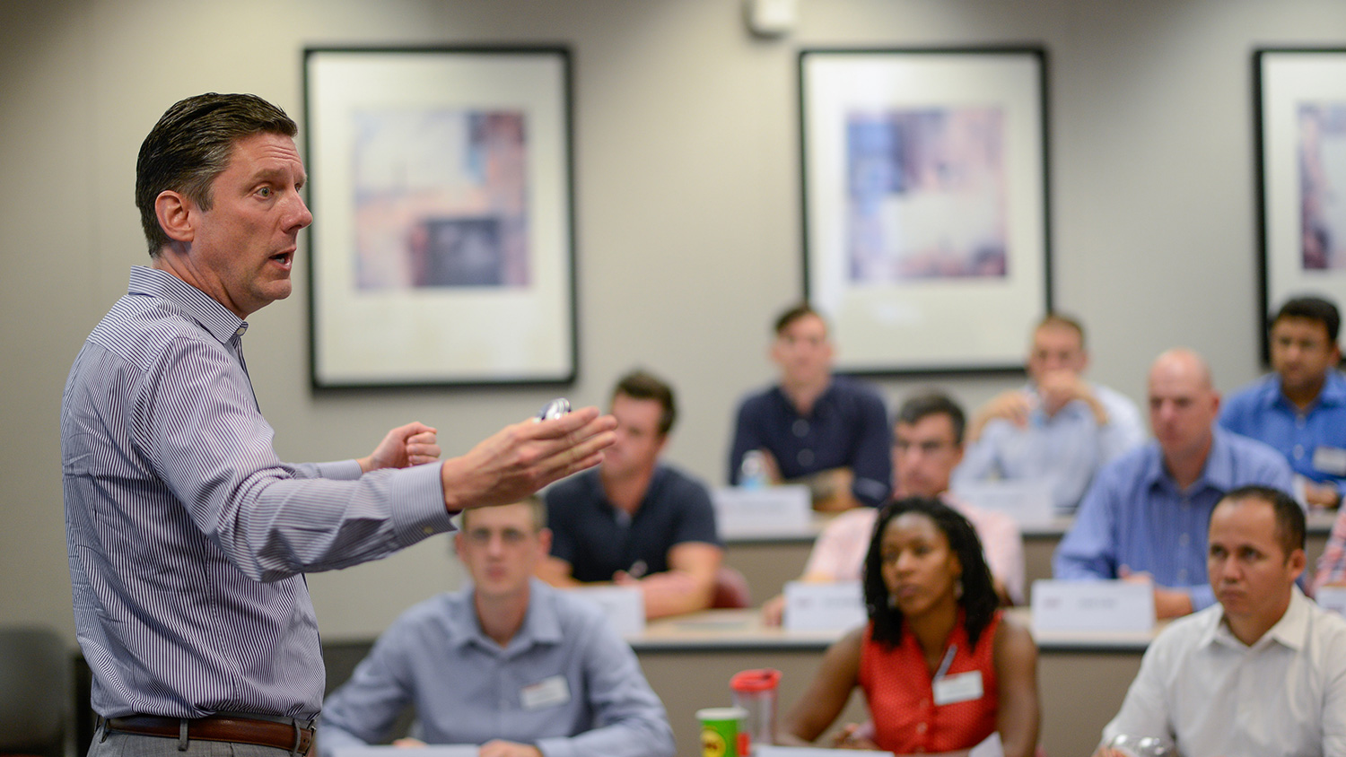 Bradley Kirkman, General (Ret.) H. Hugh Shelton Distinguished Professor, is among the Poole College faculty teaching Jenkins MBA students.