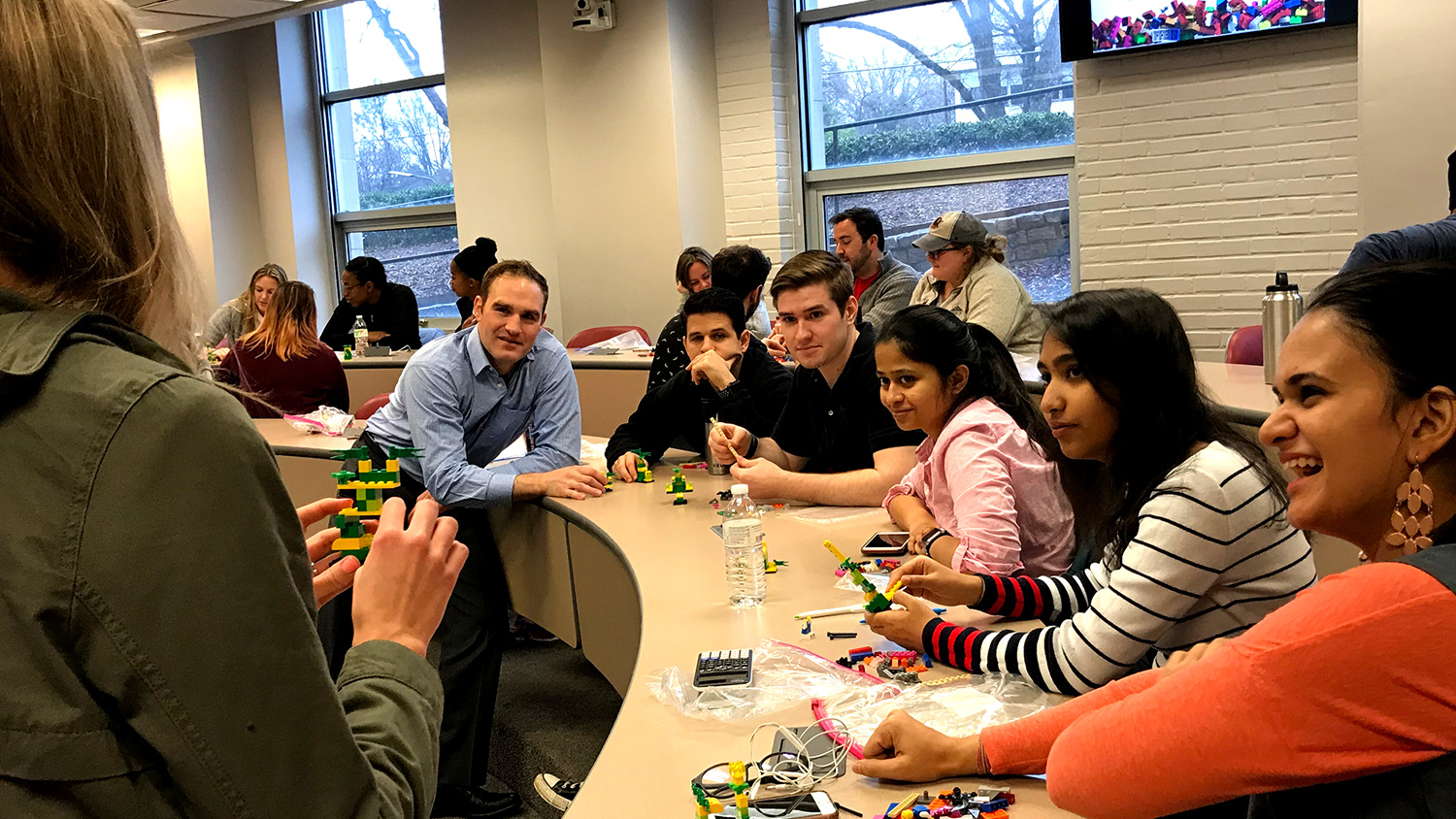 NC State Jenkins MBA students share the stories of their Lego creations.