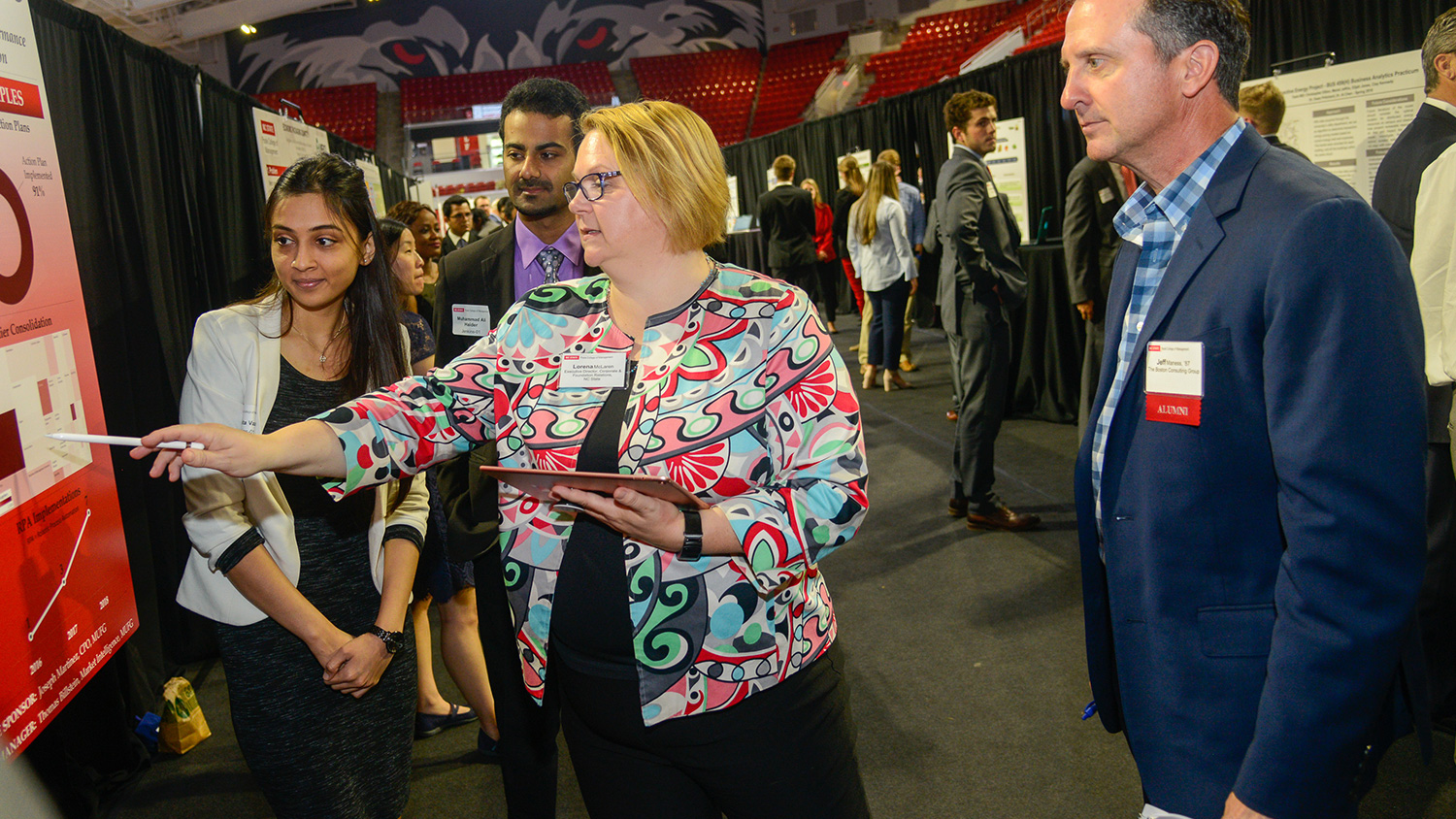 Judging under way at the 2018 Leadership and Innovation Showcase (archive photo).