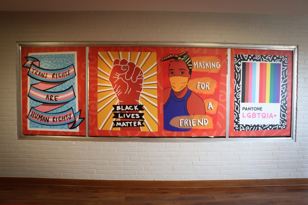 Diversity Mural on third floor of Nelson Hall