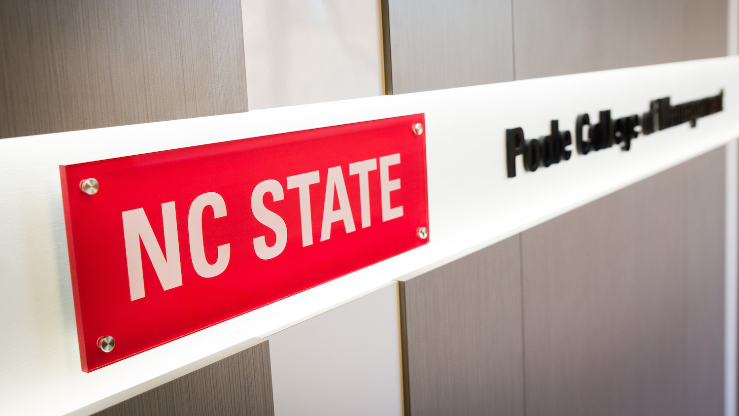 NC State Poole College sign